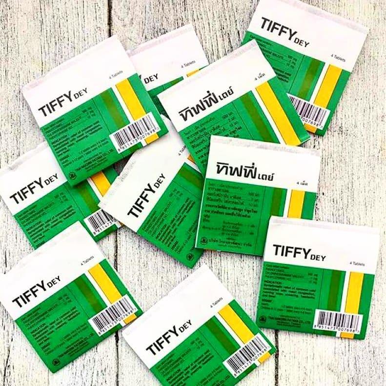 Таблетки от простуды Tiffi 4 таблетки