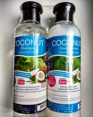 Шампунь и кондиционер на основе кокосового масла (набор)