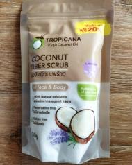 Скраб для лица с кокосовой стружкой, морской солью и маслом лаванды