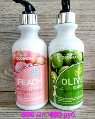 Лосьоны для тела с экстрактом персика  и оливы 500 мл